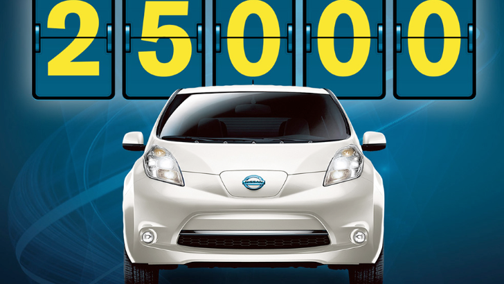 Nissan Leaf Reaches 25,000 US Sales