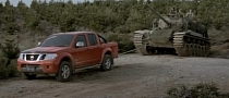 Nissan Navara Pickup Tows a Tank [Video]