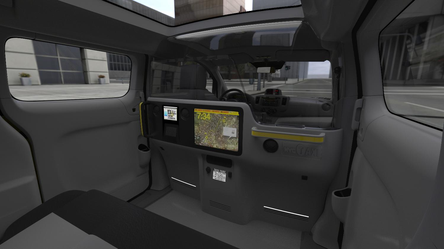 Nissan Nv200 New York Taxi Interior Revealed Autoevolution
