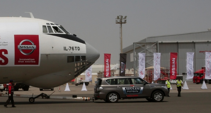 Nissan Patrol Pulls 170-Ton Plane, Sets New World Record