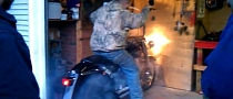 Nonsensical Harley Burnout in the Garage [Video]