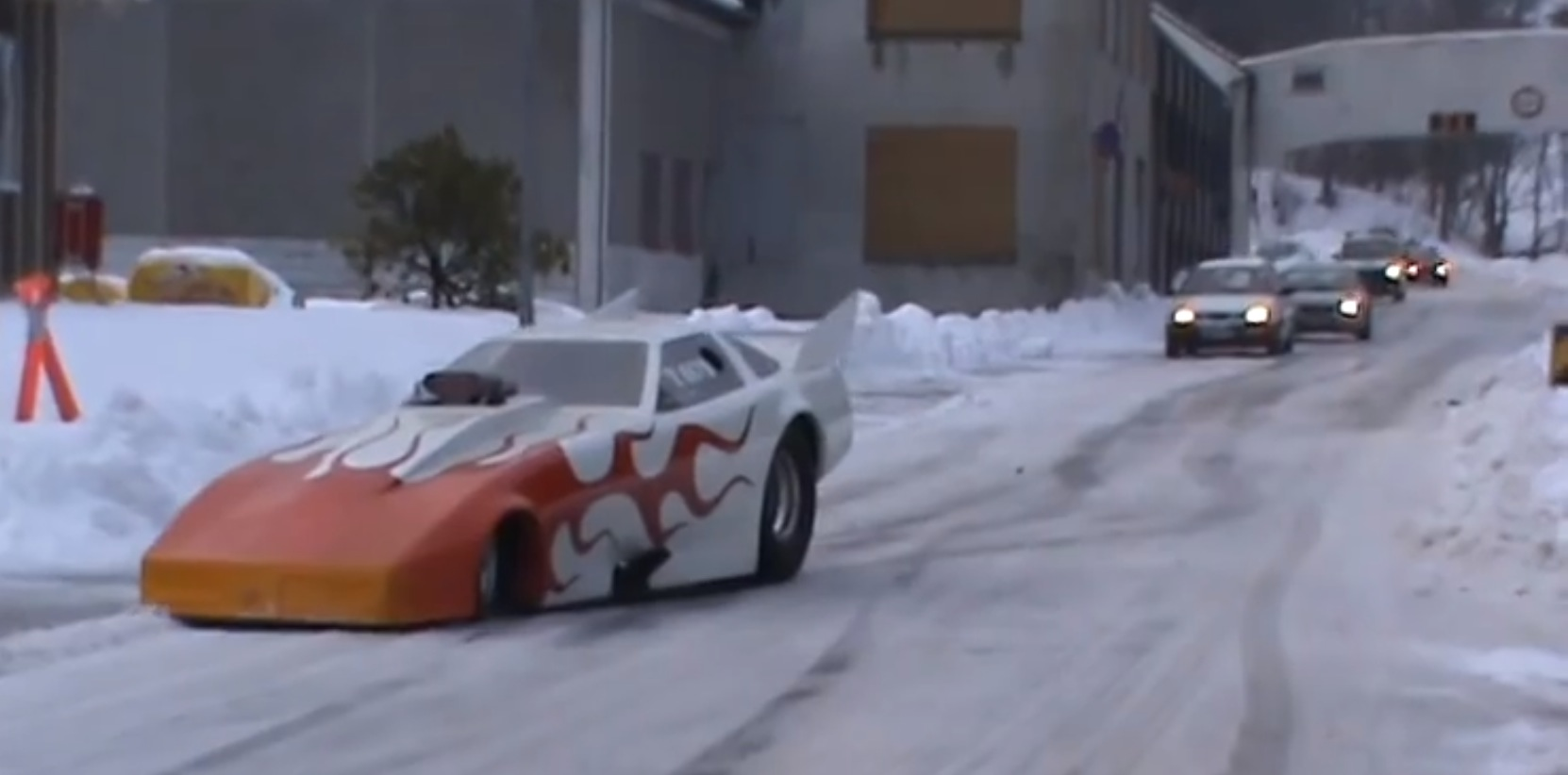 Norwegian Funny Car Has Trouble Driving On Snow Video Autoevolution