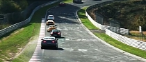 Nurburgring Traffic Jam with Near-Crash [Video]