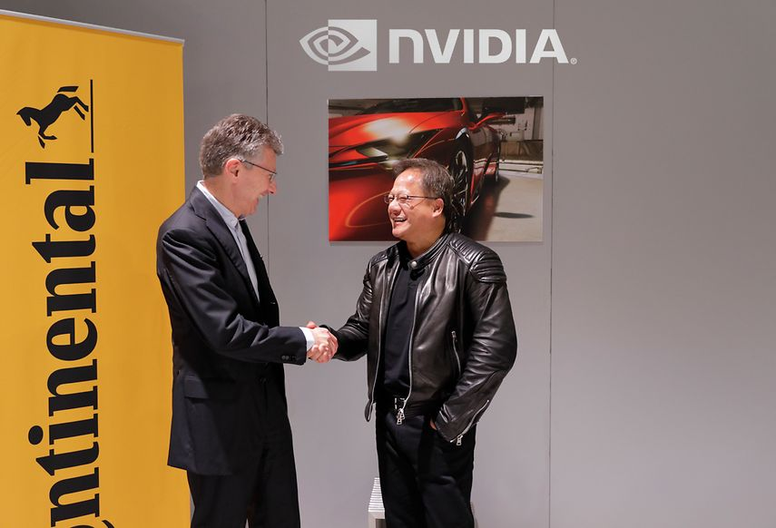 Nvidia, Continental AG team up on self-driving vehicle project