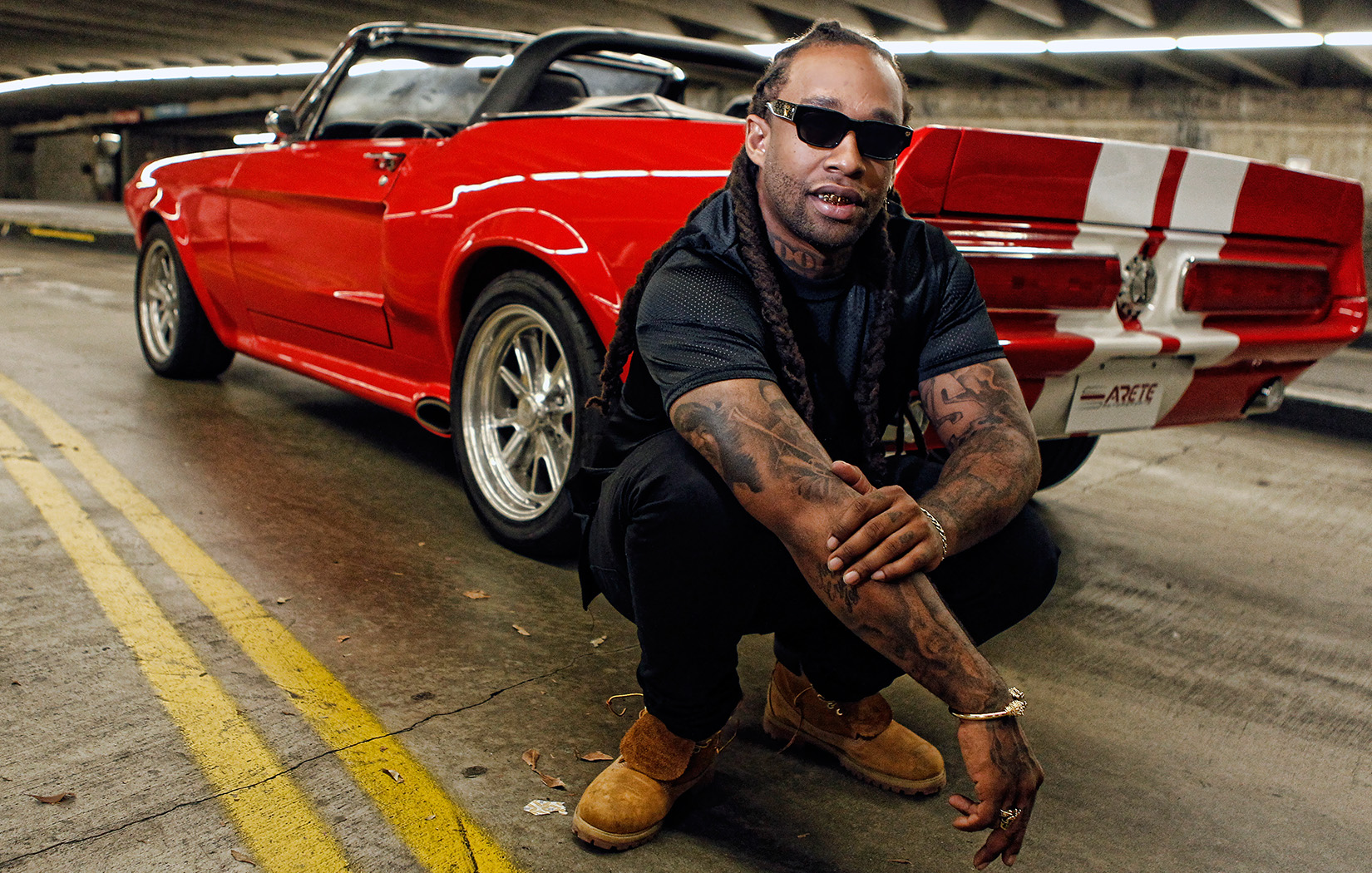 Of Ford Mustang Gt Eleanor Replica Young Rapper Ty Dolla Sign And Music