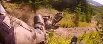 Off-Road Failure to Communicate Crashes BMW R1200GS [Video]