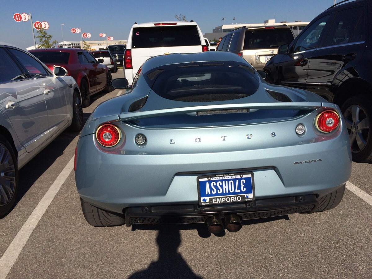 Offensive Upside Down License Plate Makes This Lotus A