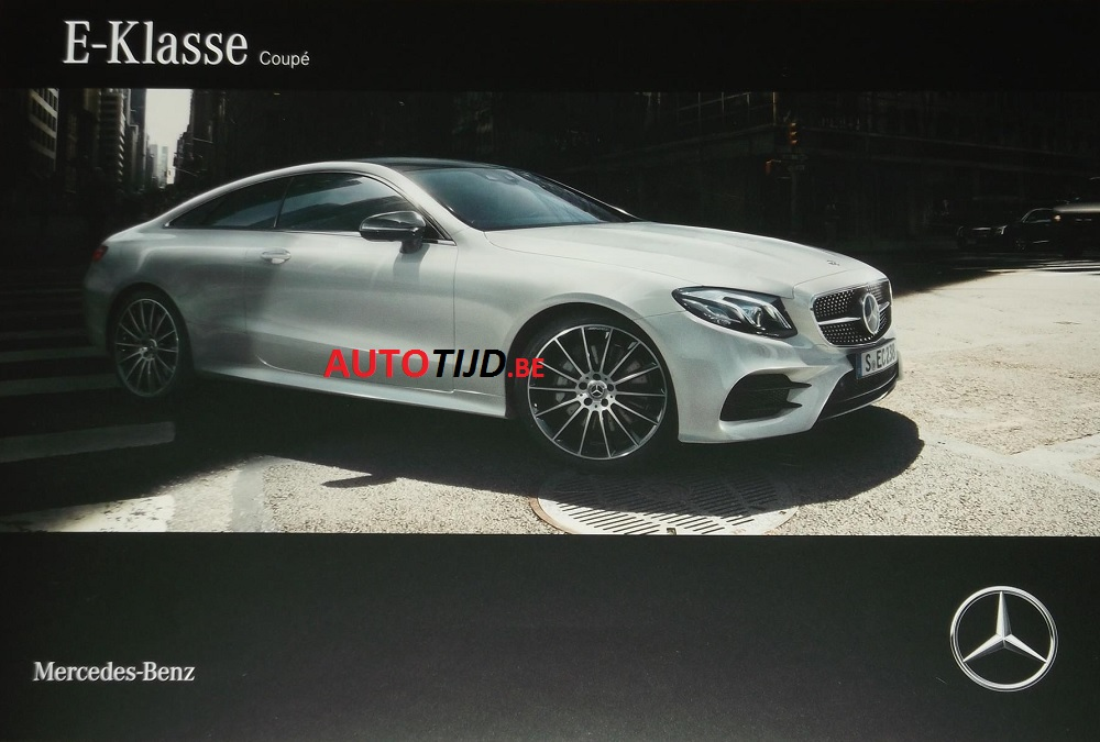 official 2018 mercedes benz e class coupe images leaked from brochure autoevolution. Black Bedroom Furniture Sets. Home Design Ideas