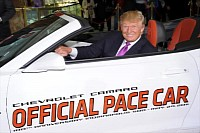 Donald Trump in the 2011 Camaro Convertible Pace Car