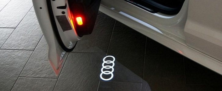 Official LED Courtesy Lights with Audi Logo Now Available ...