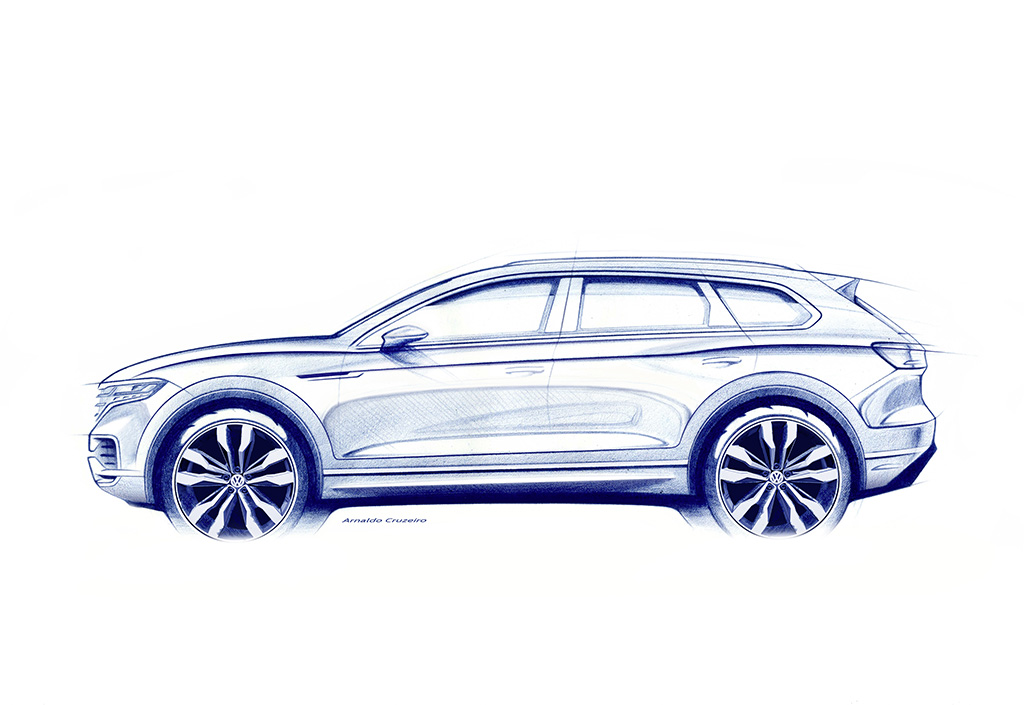 VW Touareg teased ahead of its Beijing debut