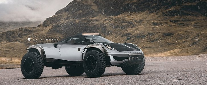 Pagani Huraya >> Offroad Pagani Huayra Rendering is Not Here to Offend - autoevolution