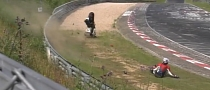 Oil on the Nordschleife Track Causes Brutal Motorcycle Crash [Video]