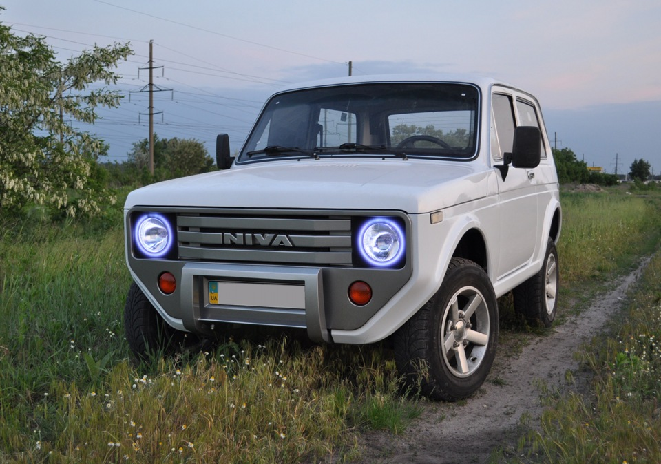 Old Lada Niva With Custom Front And Rear Fascias Looks Like An