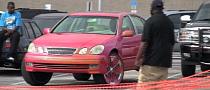 Old Lexus GS 300 on 30-Inch Wheels Looks Like a Toy [Video]