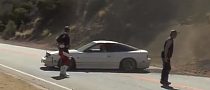 Old Nissan 240SX Crashes Up a Hill [Video]