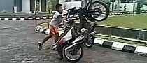 Old Recipe: Wheelie Fails, Rider Gets Hurt [Video]