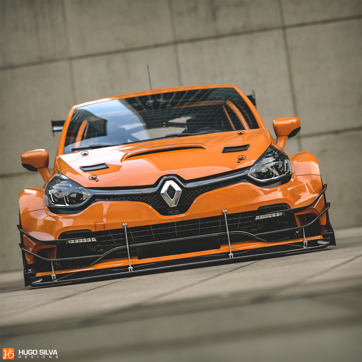 Renault Clio Rs >> Old Renault Clio Rs Race Car With Widebody Kit Looks Angry