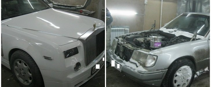 Old E-Class Turned into Rolls-Royce by Crazy Kazakhstanian Tuners