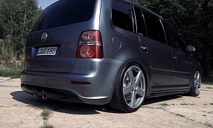 Old VW Touran Gets R36 Engine Swap, Sounds Awesome