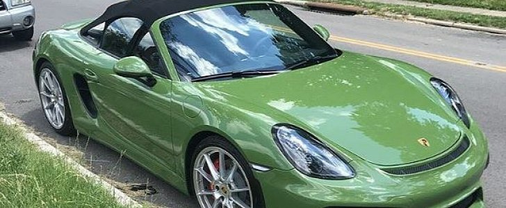 Olive Green Porsche Boxster Spyder Is A Gift From God
