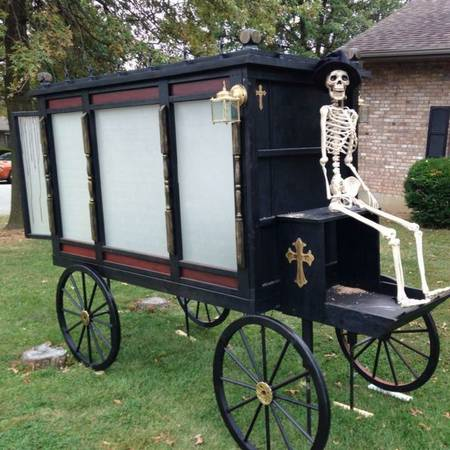 One Halloween Party Will Have The Perfect Hearse Prop Decoration