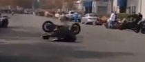 One Lucky Camera Guy Missed by Bike [Video]