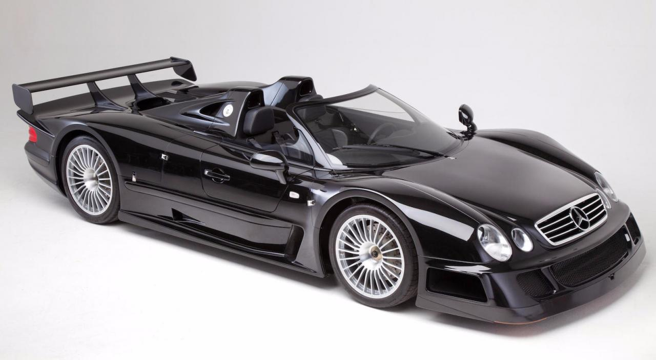 one of six mercedes benz clk gtr roadster heads to auction. Black Bedroom Furniture Sets. Home Design Ideas