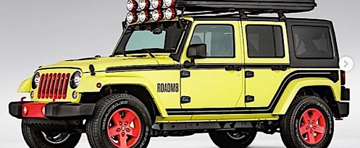 One-Off Jeep Wrangler Super 8 Is a Hotel Room on Wheels - autoevolution