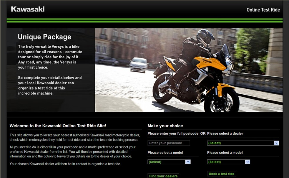 Online Test Ride Booking from Kawasaki UK - autoevolution