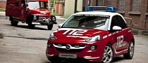 Opel Adam Looks Adorable As a Fire Engine