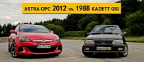 Opel Astra OPC vs 1988 Kadett GSI: Legend and New Boy [Video]