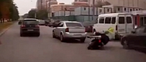 Opel Driver Intentionally Causing Scooter to Crash [Video]