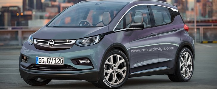 Opel Electric Vehicle Rendered Based On Chevy Bolt As Gm