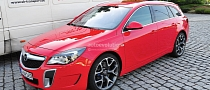 Opel Insignia OPC with Facelift Caught Completely Undisguised