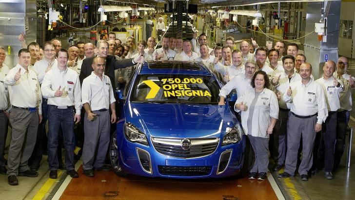 Opel insignia reaches production milestone the 750 000th
