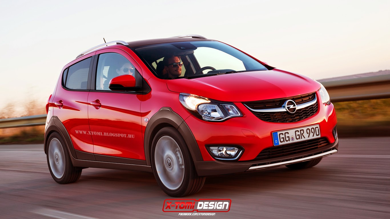 Opel Karl Vauxhall Viva Rocks Rendered Rugged And