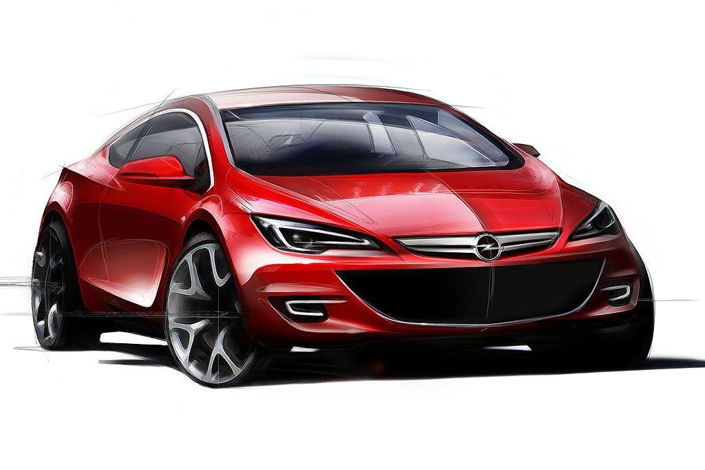 2011 Opel Astra Sport Hatch Sketch