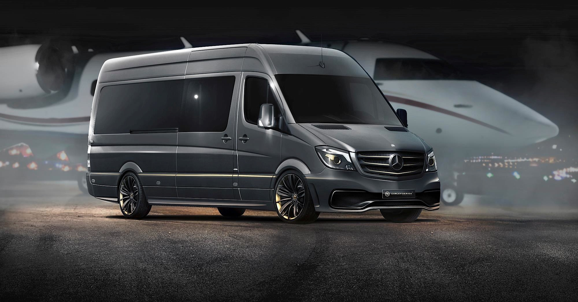 opulent mercedes benz sprinter by carlex design photo gallery autoevolution. Black Bedroom Furniture Sets. Home Design Ideas