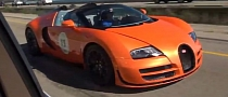Orange Bugatti Veyron Grand Sport Vitesse Cruising [Video]