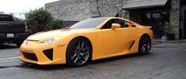 Orange Lexus LFA for the 2011 NAIAS