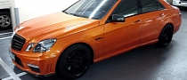 Orange Mercedes E63 AMG Spotted in Dubai [Video]