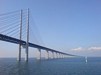 Oresund Bridge has a total length of 16.4 km