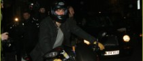 Orlando Bloom Arrives at Charity Event on Motorbike