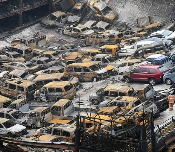 Over 500 Cars Worth Million Dollars Burn To The Ground At