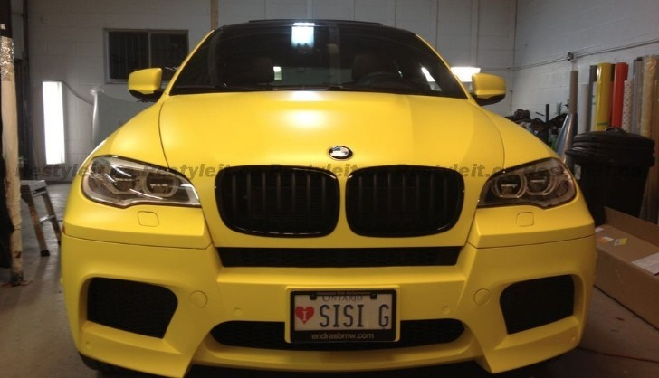 Overkill: BMW X6 M Dressed in Matte Yellow [Photo Gallery]