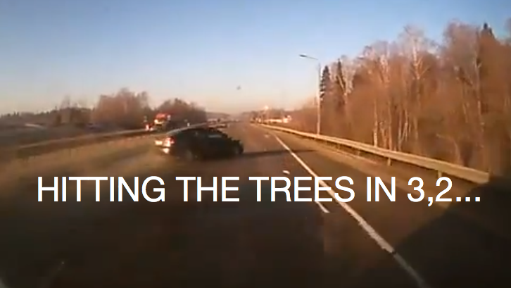 Speeding Russian Driver Ends Up In the Ditch [Video]