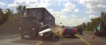 Overtaking in Wrong Lane Cases Brutal Head On Crash [Video]