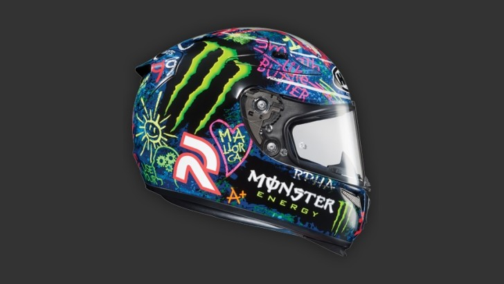 Own a HJC Jorge Lorenzo Graffiti Helmet Replica