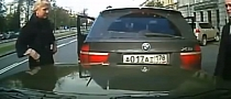 Owned: BMW X5 Reverses into Car with Dash Camera [Video]